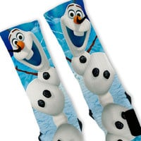 Frozen Olaf Custom Nike Elite Socks
