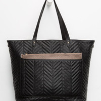 Four In One Faux Leather Tote Black Combo One Size For Women 26271814901