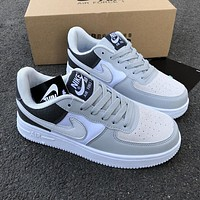 NIKE Air force 1 AF 1 men's and women's stitching color low top sneakers Shoes