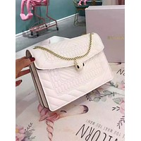 Bvlgari hot seller of fashionable ladies' single-shoulder bag with pure color shopping bag
