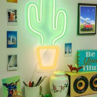 """Cactus 18"""" LED Wall Sign"""
