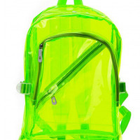 Clear Neon Jelly Backpack