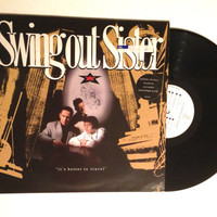 FALL SALE Swing Out Sister It's Better To Travel Rare UK Pressing Vinyl Record 1987 Downtempo Synth Pop Break Out Lp Album