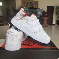 Louis Vuitton LV Nike Air Force 1 Low Monogram Men's and Women's Sneakers Shoes