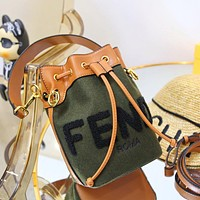 Fendi all-match atmospheric bucket bag single shoulder bag