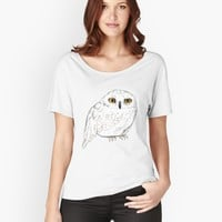 'Hedwig' Women's Relaxed Fit T-Shirt by annieclayton