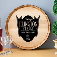 Personalized Wine Barrel Home Decor Signs - Family Crest - 20 diam.in. | www.hayneedle.com