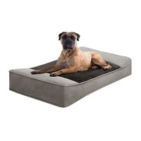 Roxie & Rover Stretch Lounger Rectangle Pet Bed - 42'' x 24'' (Grey)