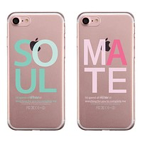 Soulmate Couple Matching Phone Cases Adorable Sweet Thoughtful Gift