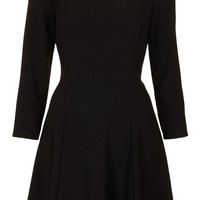 Crepe Fit and Flare Dress - Dresses - Clothing - Topshop USA