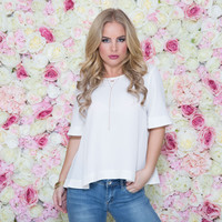 Never Too Late Blouse In Ivory