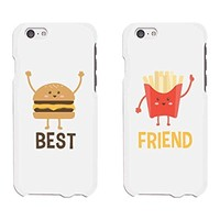 365 Printing Burger and Fries White Matching Best Friends Phone Cases Christmas Gift for BFF