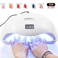 72W SUN5 Pro UV Lamp LED Nail Dryer Lamp