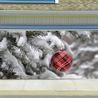 Christmas Garage Door Cover Banners 3d Holiday Outside Decorations Outdoor Decor for Garage Door G58