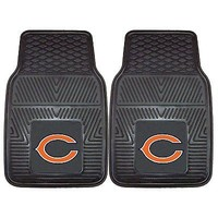 Licensed Official NFL Chicago Bears Car Truck 2 Front Heavy Duty Rubber Vinyl Floor Mats