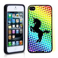 Iphone 5 5S Case Thinshell Case Protective Iphone 5 5S Case Shawnex Rainbow Dots Unicorn