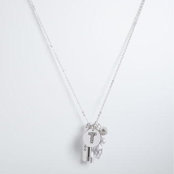 """T"" Initial Charm Necklace"