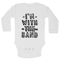 I'm With The Band Funny Kids Onesuit