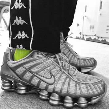 NIKE SHOX TL Fashion New Hook Women Running Sports Leisure Shoes Gray