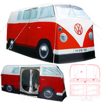 VW CAMPER VAN TENT RED