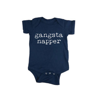 Gangsta Napper Onesuit, Funny Onesuit, Napping Onesuit, Love to nap Onesuit, Gangster Onesuit, gangsta Onesuit, Funny creeper bodysuit 6m 12m 18m