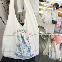 Stylish Back To School Casual College Hot Deal On Sale Comfort Korean Pattern Tote Bag Bags Cotton Backpack [8269848071]