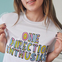 One Direction Enthusiast 1D Shirt© Design by Euclea Tan