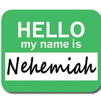 Nehemiah Hello My Name Is Mouse Pad