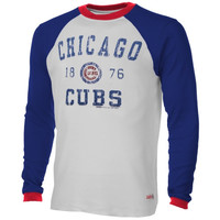 Chicago Cubs Stitches Established Thermal Long Sleeve T-Shirt – White