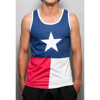 Texas Flag Tank Top in Red, White and Blue by Rowdy Gentleman