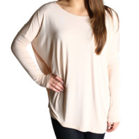 Cream Piko Long Sleeve Top