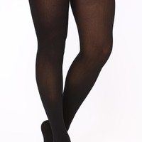 On My Best Behavior Thigh Highs - Black