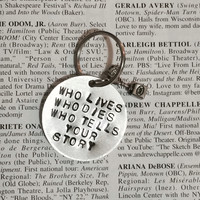 Hamilton Broadway Who Lives Who Dies Who Tells Your Story Charm Keychain