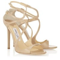 Nude Patent Leather Sandals   Strappy Sandals   Lance   JIMMY CHOO Shoes