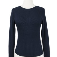 Adeline Pullover Sweater in Navy