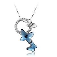 New Arrival Shiny Gift Crystal Butterfly Jewelry Stylish Accessory Necklace [6057473345]