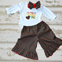 Baby Boutique outfit, babygirl, baby ruffle pants, Bring home baby outfit, Thanksgiving baby outfit, Holiday baby outfit, Baby layette gown