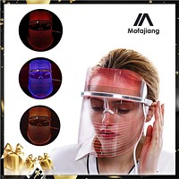 LED Mask Facial Whitening Skin Tighten Anti-Aging Wrinkle Removal Light Therapy Face Care Treatment Beauty Tool Device 3 Colors