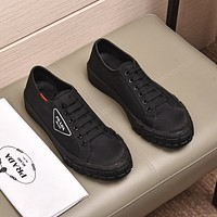 prada men fashion boots fashionable casual leather breathable sneakers running shoes 70