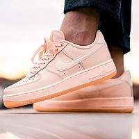 Nike Air Force 1 AF1 Pink Women's Low-Top Sports Running Shoes