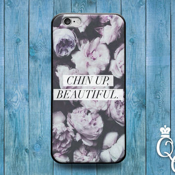 iPhone 4 4s 5 5s 5c 6 6s plus + iPod Touch 5th Gen Fun Cover Cute Chin Up Beautiful Quote Flower Floral Magazine Letters Girl Girly Fun Case