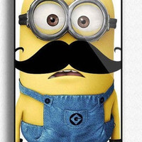 Personalized Despicable Me Mustache Minion Custom for Phone 5  Print iphone hard case for iphone5,-plastic Iphone cover