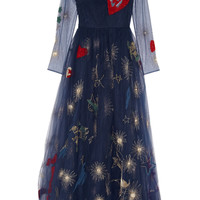 Valentino - Embroidered tulle gown