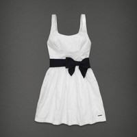 Abercrombie & Fitch Women Fashion Alicia Embroidered Belted Navy Dress SIZE 4