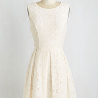 Short Length Sleeveless A-line Happily Ivory After Dress