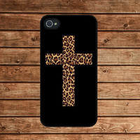 Leopard Cross--iphone 4 case,iphone 4s case  ,in plastic or silicone case