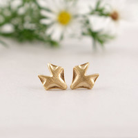Gold Plated Fox Stud Earring