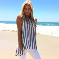 Earn Your Stripes Tunic Blouse