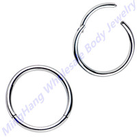 2pcs Surgical Steel Nose Septum Clicker Segment Ring Lip Nipple Ear Cartilage Helix Tragus Stud Piercing Jewelry