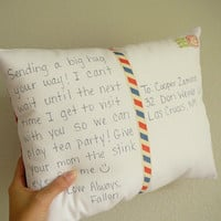 Personalize a Postcard Pillow by OliveHandmade on Etsy